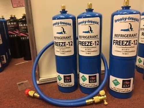FREEZE 12 R-12 R12 REPLACEMENT NON-FLAMMABLE NO CFCS  28 oz. Cans KIT C
