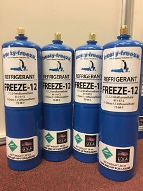 FREEZE 12 R-12 R12 REPLACEMENT NON-FLAMMABLE & NO CFCS   28 oz. Cans