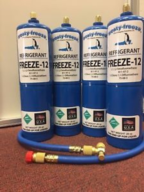 FREEZE 12 R-12 R12 REPLACEMENT NON-FLAMMABLE NO CFCS   28 oz. Cans KIT D