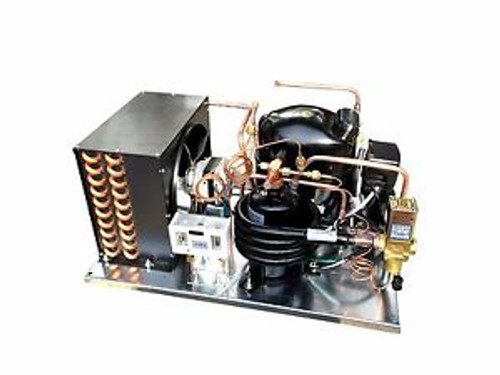 Combo Air+Water Cooled Condensing Unit 1 HP High Temp R134a 220V