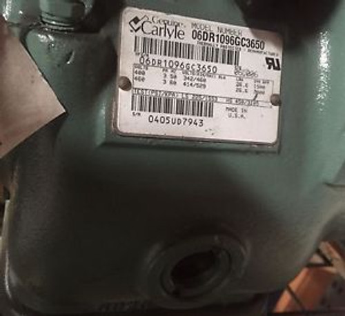06DR1096GC3650 - Carlyle Reman Compressor 460V 2HP 3PH R22