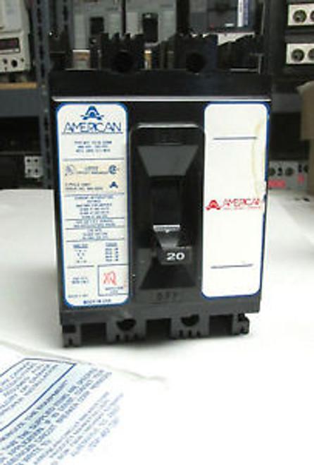 .. AMERICAN / FPE 20A 3P Circuit Breaker Cat# NEF435020 ...  O-37