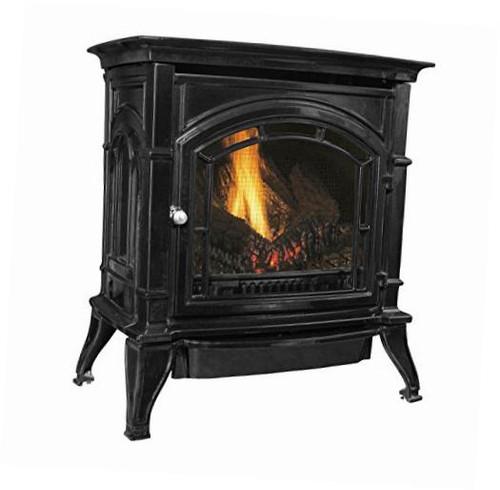 agc500vfbn vent-free black enameled porcelain cast iron stove 31000 btu