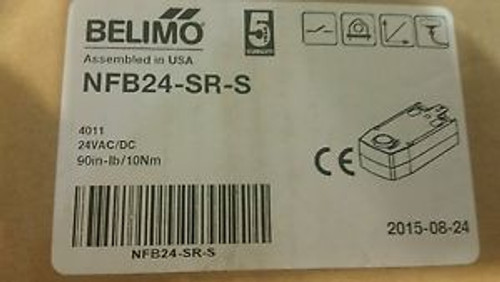 Belimo NFB24-SR-S Spring Return Proportional Actuator w/ 2 Aux Switches 90 lb-i