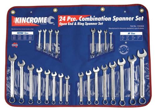 1352424 Kincrome 24pce AF/MM Combination Spanner Set