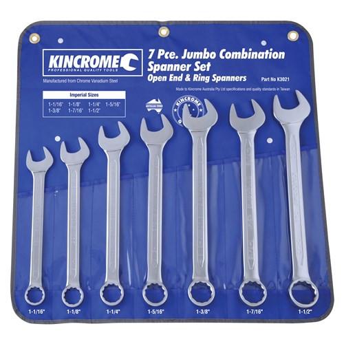 K3021 Kincrome Jumbo Combination AF Spanner Set
