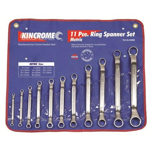 K3050 Kincrome Mega Ring Spanner Set 11 Piece Metric