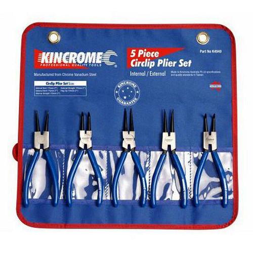 K4040 Kincrome 5pce Internal  External Circlip Plier Set