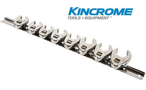 """Kincrome Crow Foot Wrench Set 8 Piece Metric 3/8"""" Square Drive K030008"""