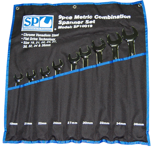 SP TOOLS 9PC METRIC JUMBO COMBINATION SPANNER SET SP10019
