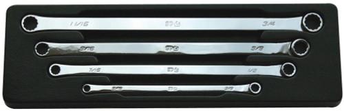 SP10084 SP 4pc Metric Zero Degree Offset Long Ring Spanner Set