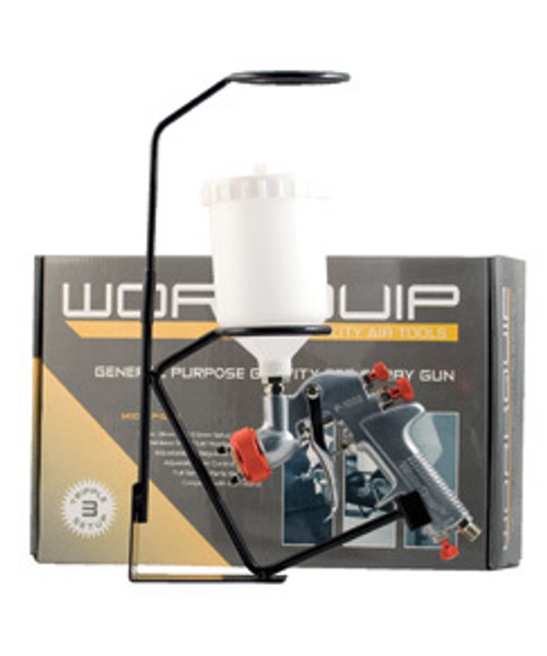 WORKQUIP TRADE GRAVITY SPRAY GUN WITH TRIPLE SETUP 1.4, 1.8 & 2.5MM.