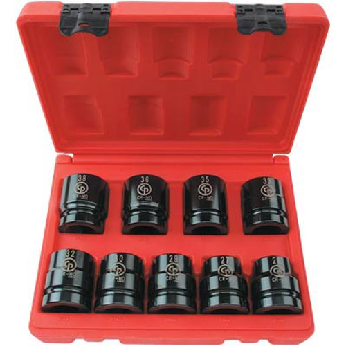 "SS818 Chicago Pneumatic 1""  Drive 8 Piece Metric Impact Socket Set."