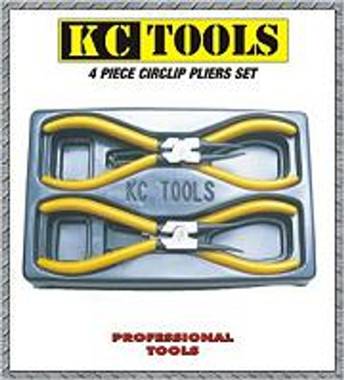 KC 4PC CIRCLIP PLIERS SET 140MM 17659