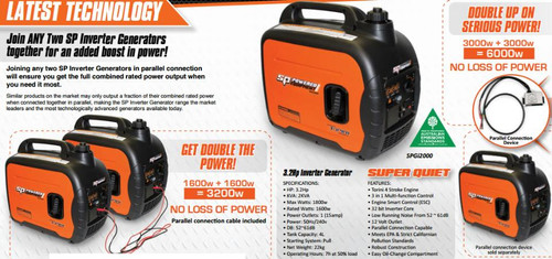 SP Tools 3.2hp Inverter Generator SPGI2000