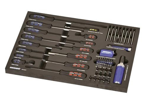 Kincrome EVA66T EVA Tray Screwdrivers & Fastening Contour 72 Piece