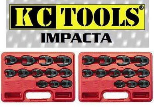 """KC IMPACTA 27PCE MM/AF 3/8 & 1/2"""" IMPACT CROWSFOOT SPANNER PACK"""