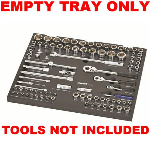 Kincrome EMPTY EVA Tray for Sockets & Accessories 89 Piece EVA60ET