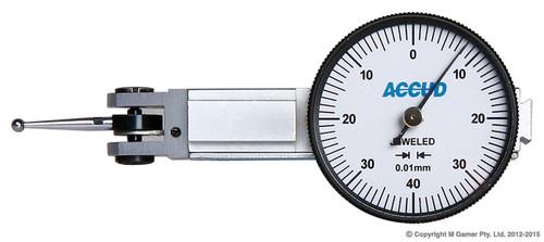 Accud Metric Dial Indicator Gauge Lever Type AC-261-008-11