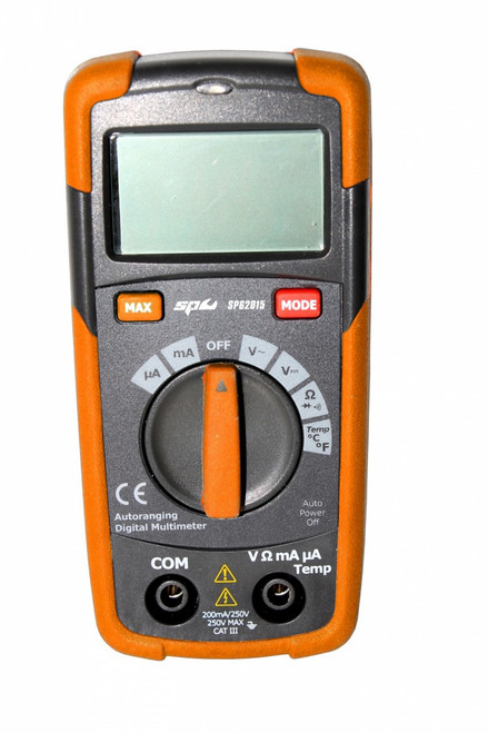 SP62015 SP TOOLS POCKET DIGITAL MULTIMETER WITH TEMPERATURE PROBE