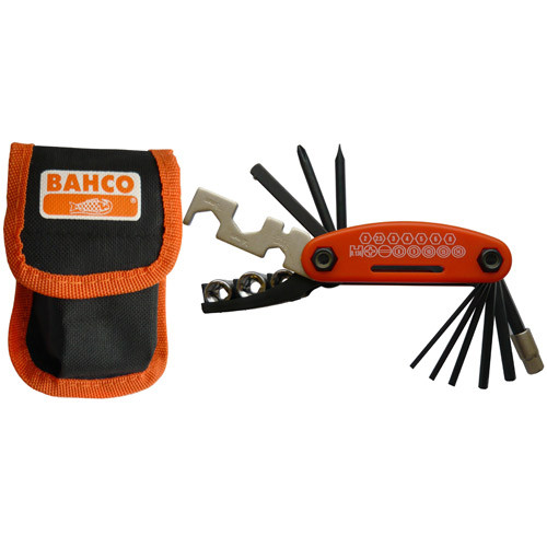 Bahco 16 Piece Bicycle (bike) Tool Kit With Pouch BKE850901