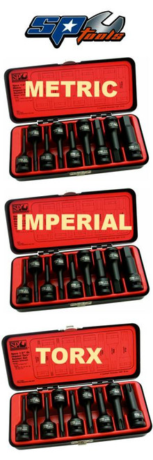 "SP Tools 1/2"" Drive Metric Inhex Impact Triple Pack"