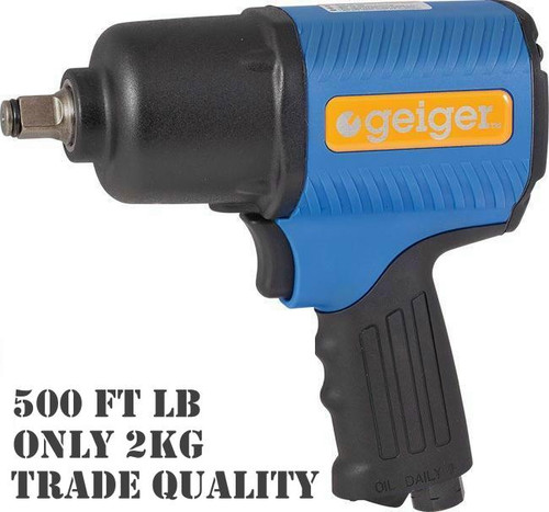 """Geiger Super Light Ultra Powerful GP260T 1/2"""" Impact Wrench."""