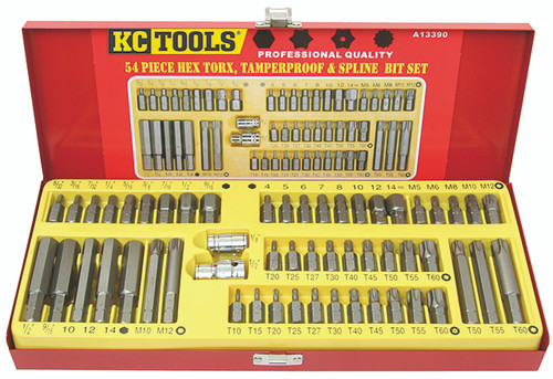 KC Tools 54 PIECE HEX & STAR DVE KIT AF/MM A13390