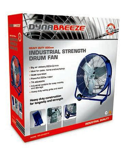 FA-23129 DYNABREEZE INDUSTRIAL DRUM FAN 600mm