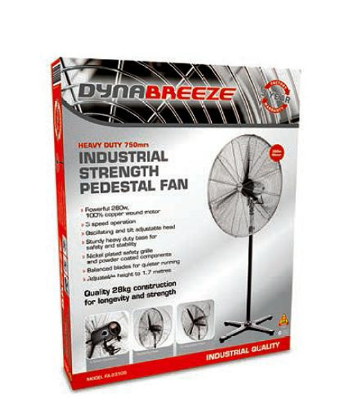 DYNABREEZE TRADE 750MM WORKSHOP PEDESTAL FAN FA23105