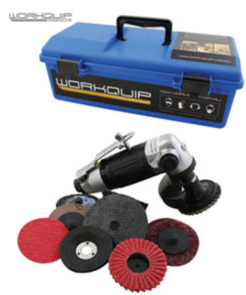 WORKQUIP HEAVY DUTY 65mm ANGLE GRINDER KIT 08119k