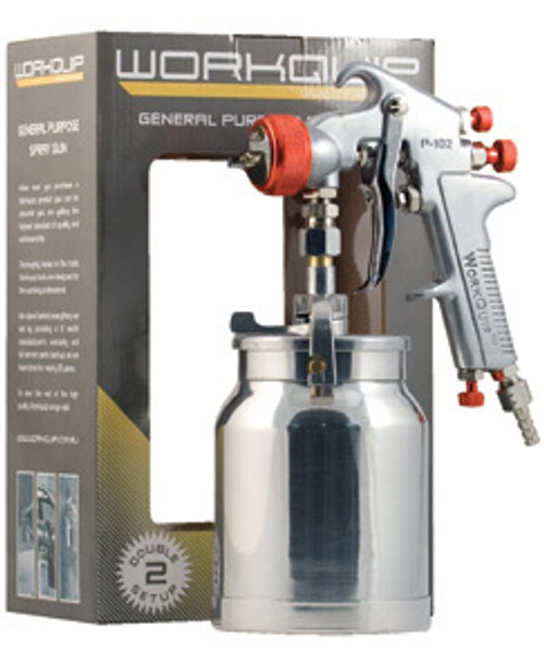 WORKQUIP HIGH PRESSURE SPRAY GUN WITH DOUBLE SETUP 1.8 & 2.5MM.