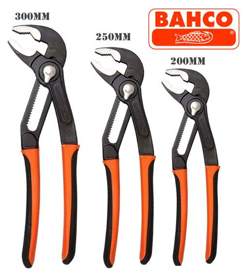 Bahco Trade Series Slip Joint Pliers Triple Pack
