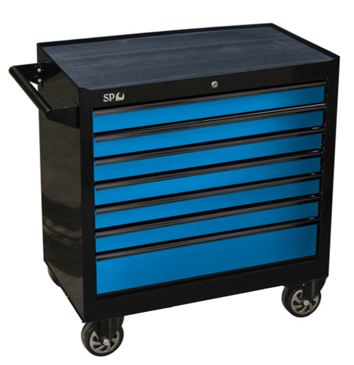 SP40126 SP Tools 7 Drawer Sumo Series Roller Cabinet Black Blue