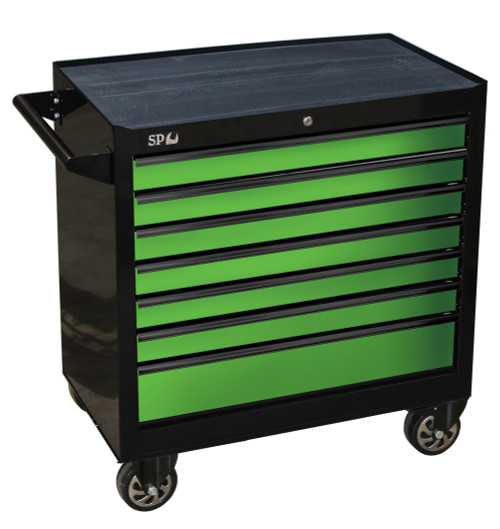SP40127 SP Tools 7 Drawer Sumo Series Roller Cabinet Black Green
