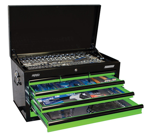 SP50172 SP Tools 376pc Metric/SAE Tool Kit in Sumo Series Tool Box Green Black