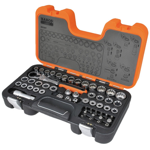 S530T Bahco Ultimate 53 Piece Go Through Socket Set