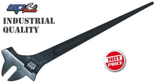 "SP Tools 15"" Adjustable Wrench With Podger End & Hammer Head SP18093"