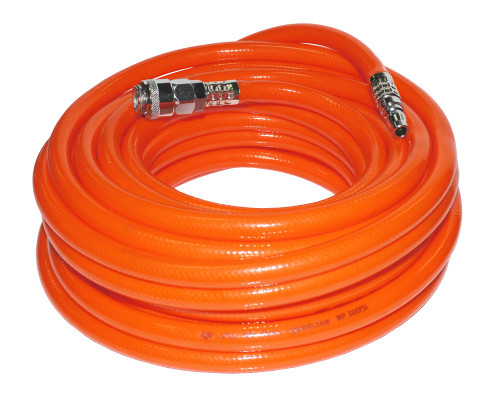 SP TOOLS 15MTR AIR HOSE FITTED FLEXIBLE KINK CURL RESISTANT