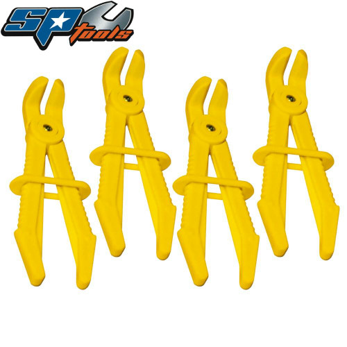 SP Tools 4pc Small Line Clamp Set  90° Offset SP70719.