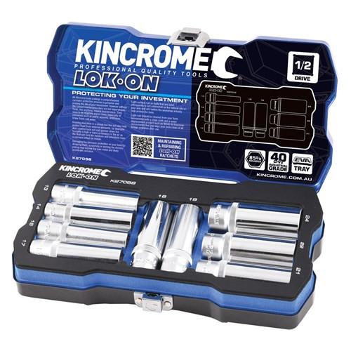 "Kincrome LOK ON® Deep Socket Set 9 Piece 1/2"" Drive Metric"