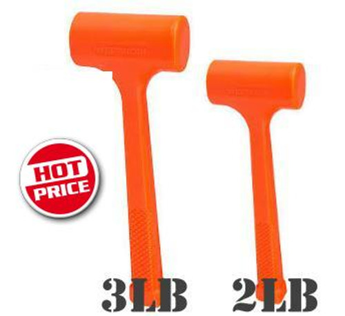 Borum 4lb & 2lb Dead Blow Hammer 2 for 1 Pack