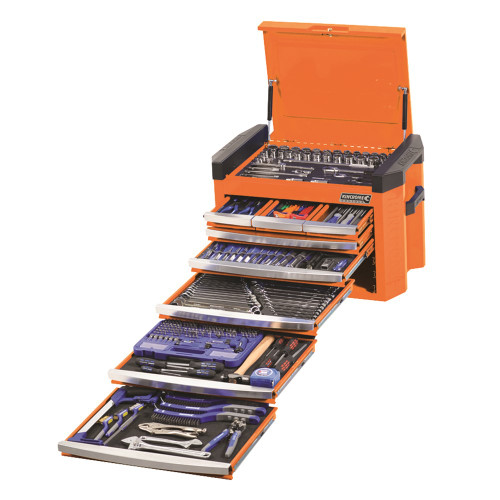 Kincrome 328 Pce  AF/MM Toolkit Contour Box Orange
