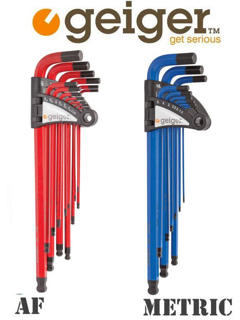 GEIGER 22PC HEX KEY BALL POINT METRIC & AF DUO PACK.