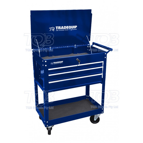 Tradequip Workshop Tool Trolley 4 Drawer Lockable Top