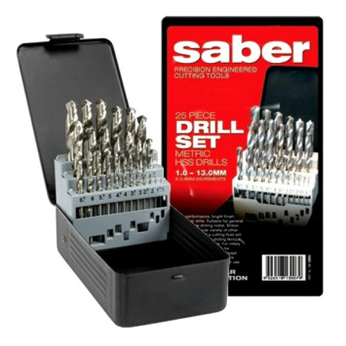 SABER TRADE MEGA METRIC HSS DRILL BIT SET