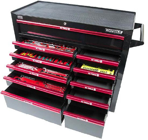 KC Tools Mega 322PC AF & Metric Toolkit in 7 Drawer Roll Cabinet