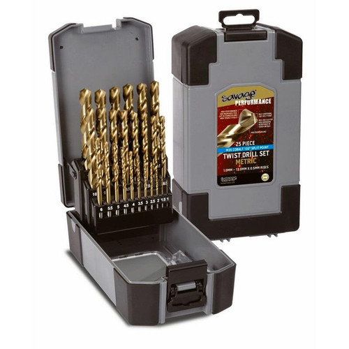 Savage Cobalt Metric Drill Set 1-13mm
