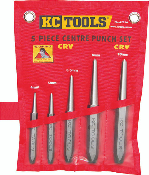 KC Tools 5pce Heavy Duty Centre Punch Set. BELOW COST
