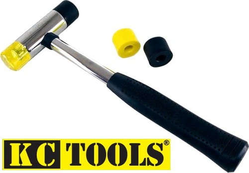 KC TOOLS 3 PCE SOFT BLOW RUBBER & NYLON TIP HAMMER KIT